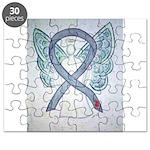 Diabetes Awareness Ribbon Angel Puzzle