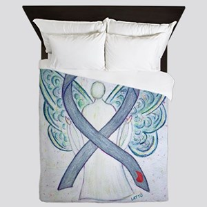 Diabetes Awareness Ribbon Angel Queen Duvet