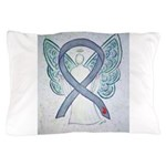 Diabetes Awareness Ribbon Angel Pillow Case