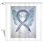 Diabetes Awareness Ribbon Angel Shower Curtain