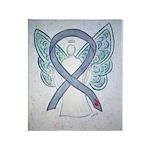 Diabetes Awareness Ribbon Angel Throw Blanket