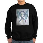 Diabetes Awareness Ribbon Angel Sweatshirt