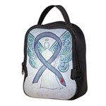 Diabetes Awareness Ribbon Angel Neoprene Lunch Bag