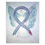 Diabetes Awareness Ribbon Angel Posters