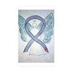 Diabetes Awareness Ribbon Angel Sticker