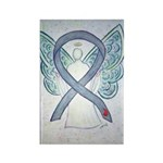 Diabetes Awareness Ribbon Angel Rectangle Magnets