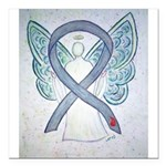 Diabetes Awareness Ribbon Angel Square Car Magnet