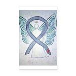 Diabetes Awareness Ribbon Angel Rectangle Car Magn