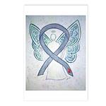 Diabetes Awareness Ribbon Postcards (package Of 8)