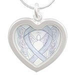 Diabetes Awareness Ribbon Angel Necklaces