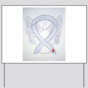 Diabetes Awareness Ribbon Angel Yard Sign