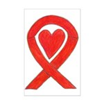 Red Awareness Ribbon Heart Posters