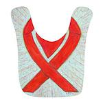 Red Awareness Ribbon Heart Bib