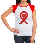 Red Awareness Ribbon Heart T-Shirt