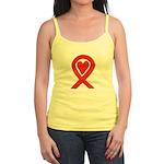 Red Awareness Ribbon Heart Tank Top