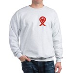 Red Awareness Ribbon Heart Sweatshirt