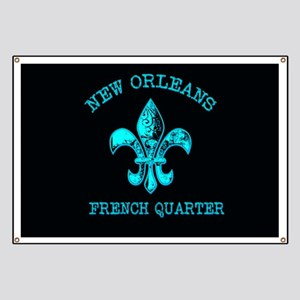 Neon Tuquoise NOLA French Quarter Banner