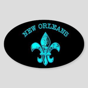 Neon Tuquoise NOLA French Quarter Sticker