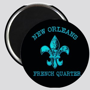 Neon Tuquoise NOLA French Quarter Magnets