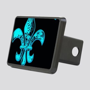 Neon Tuquoise NOLA French Rectangular Hitch Cover