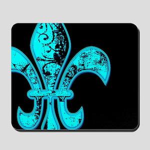Neon Tuquoise NOLA French Quarter Mousepad