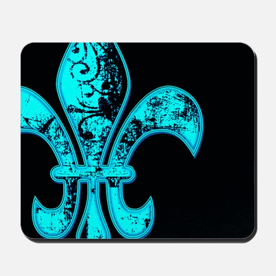 Neon Tuquoise NOLA French Quarter Mousepad