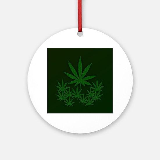 Marijuana / Weed Design Ornament (Round)
