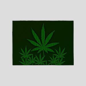 Marijuana / Weed Design 5'x7'Area Rug