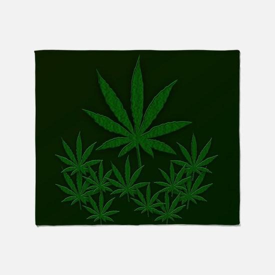 Marijuana / Weed Design Throw Blanket