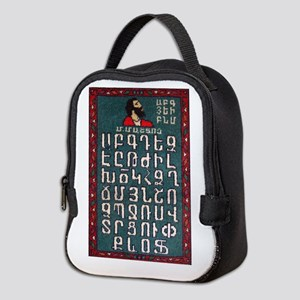 Armenian Alphabet Neoprene Lunch Bag