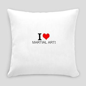 I Love Martial Arts Everyday Pillow