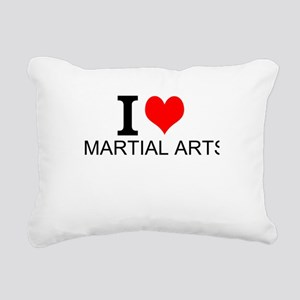 I Love Martial Arts Rectangular Canvas Pillow