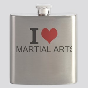 I Love Martial Arts Flask
