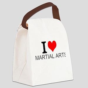 I Love Martial Arts Canvas Lunch Bag