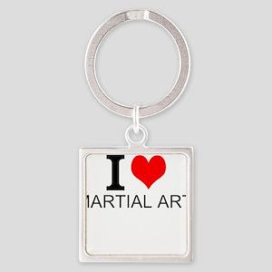 I Love Martial Arts Keychains