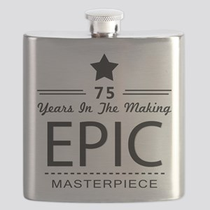 75th Birthday 75 Years Old Flask