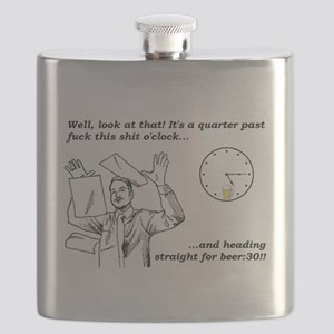 Quarter Past Fuck This Shit O'Clock Flask