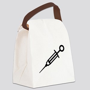 Injection syringe Canvas Lunch Bag