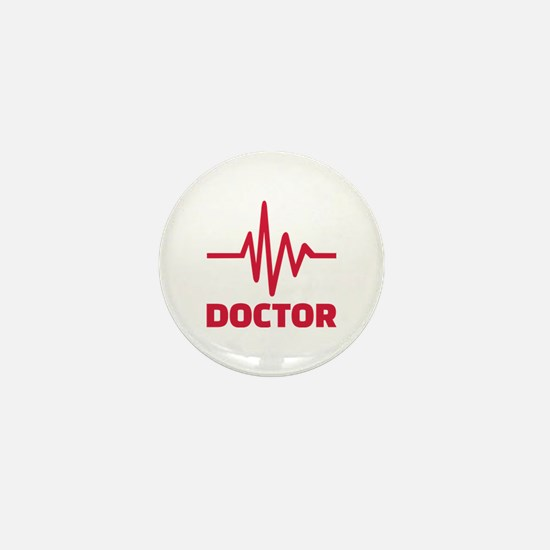 Doctor red frequency Mini Button