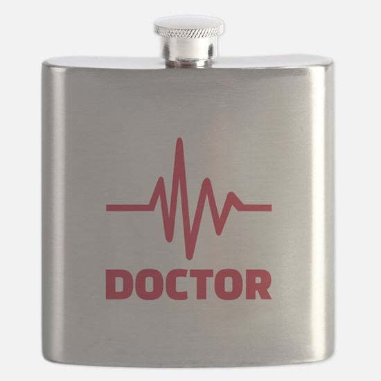 Doctor red frequency Flask