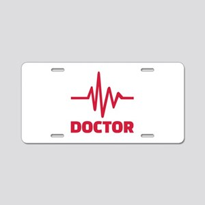 Doctor red frequency Aluminum License Plate