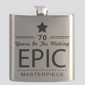 70th Birthday 70 Years Old Flask