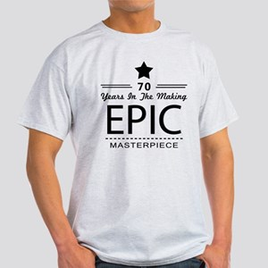 70th Birthday 70 Years Old Light T-Shirt