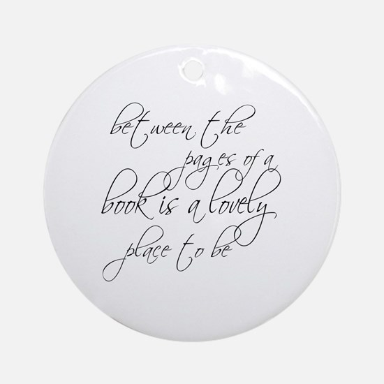 Lovely Book Reader Round Ornament
