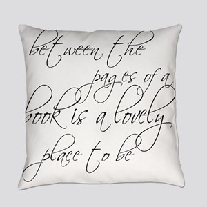 Lovely Book Reader Everyday Pillow