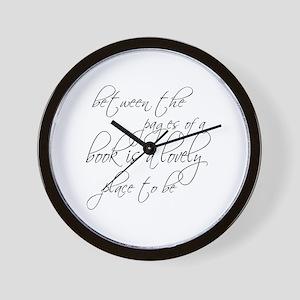 Lovely Book Reader Wall Clock