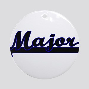 Major Classic Job Design Ornament (Round)