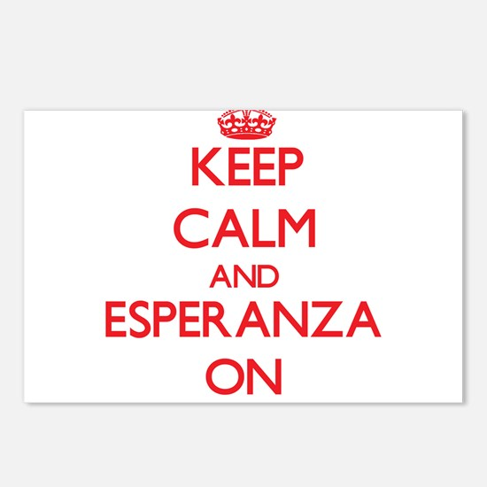 Keep Calm and Esperanza O Postcards (Package of 8)