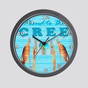 Proud to be Cree Wall Clock