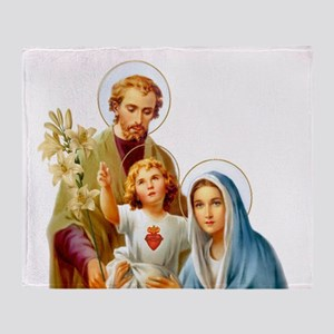 The Holy Family (Style 2) Throw Blanket
